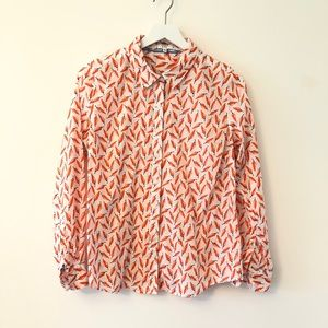 2FOR15 🌴Crown & Ivy Pepper Print Button Shirt Med